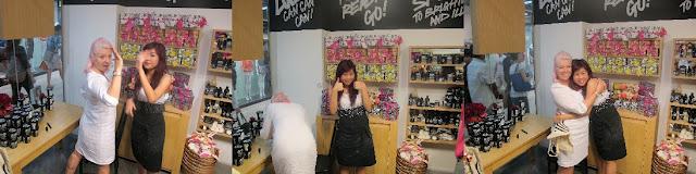 LUSH Singapore's Charissa with Ro!