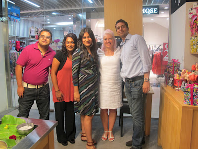 The partners Lush SG together with Rowena. From left: Shaw, May, Sohana, Rowena and Nafees