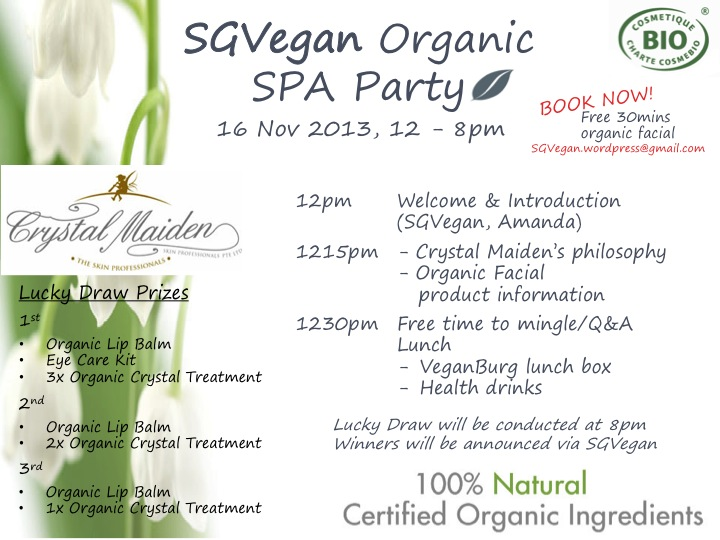 SGVegan Organic SPA Party