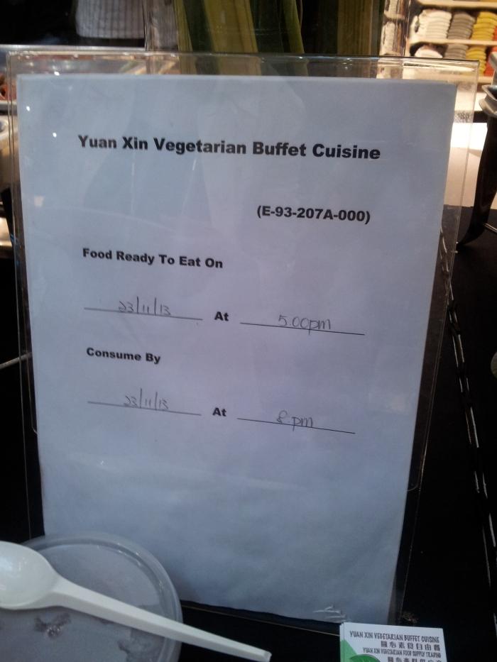 SGVegan_TMS2013 Yuan Xin Vegetarian Dinner
