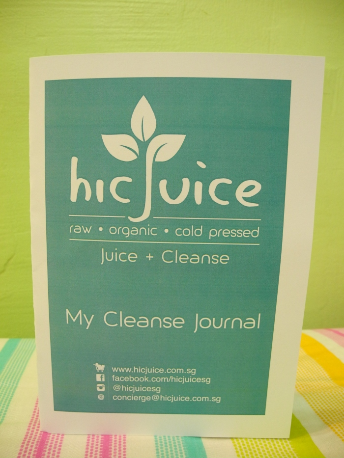 SGVegan_hic'Juice My Cleanse Journal