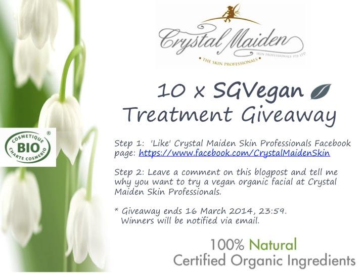 SGVegan Treatment Giveaway
