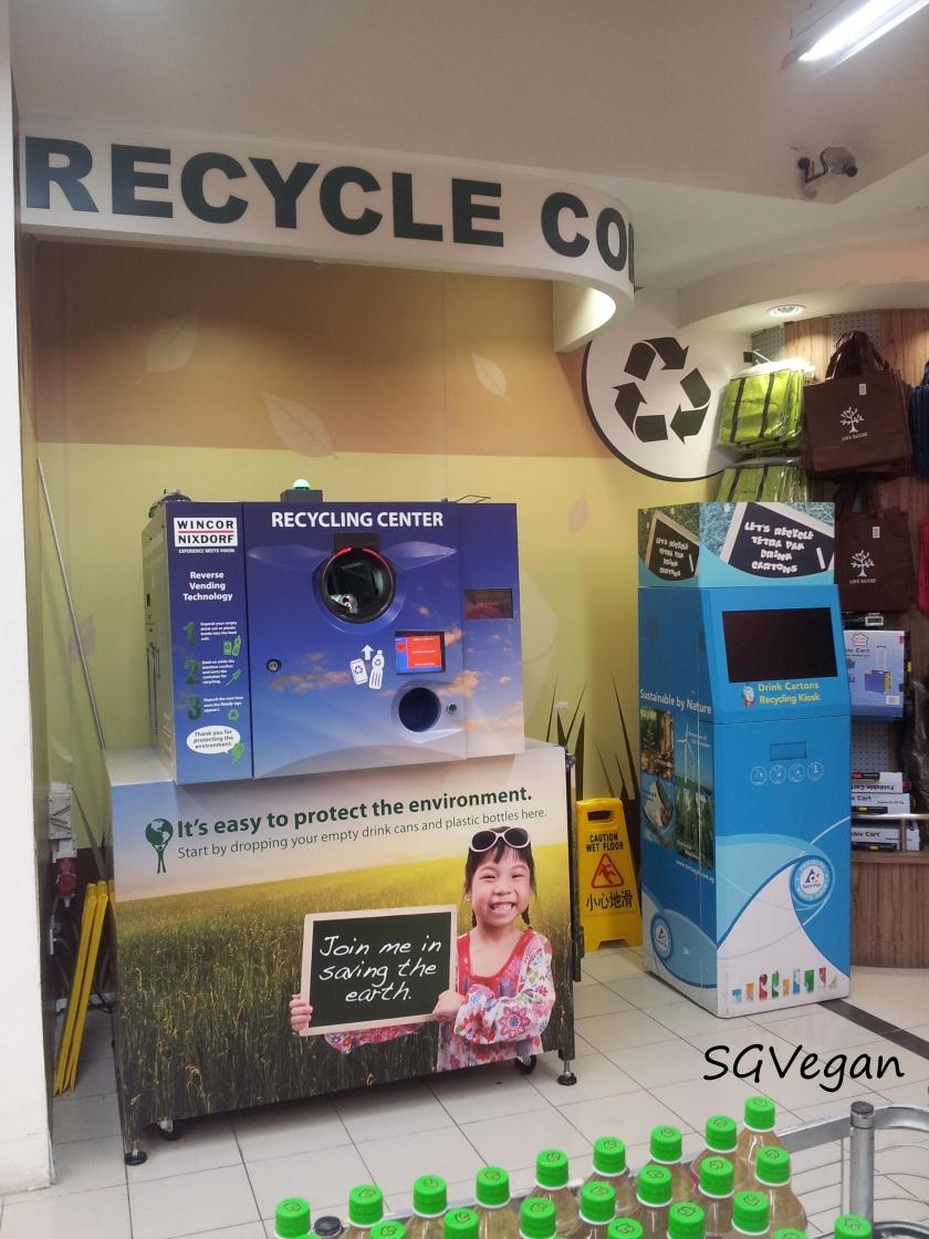 SGVegan_NTUC Recycling Corner