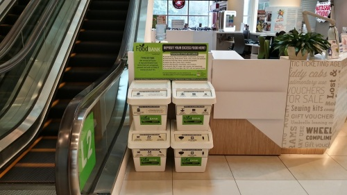 SGVegan_Food Bank Box at City Square Mall - Level 2 besides the Customer Service Counter (credit to City Square Mall)