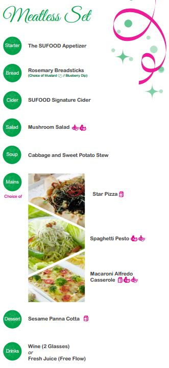 SGVegan_SUFOOD Festive Menu Meatless Set 2014