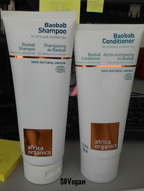 SGVegan_Africa Organics Baobab Shampoo and Conditioner