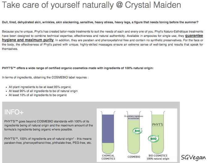 SGVegan_Take Care of Yourself Naturally at Crystal Maiden