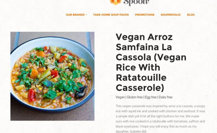 The Soup Spoon Vegan Rice with Ratatouille Casserole – Latest SpainOffering