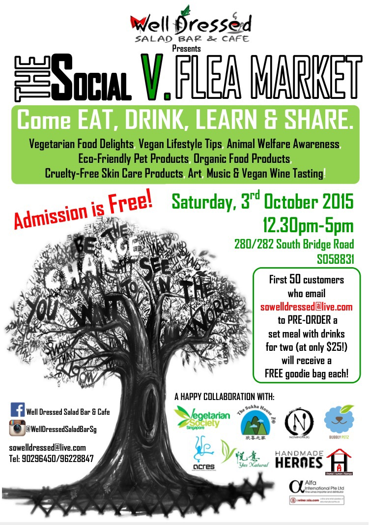 Upcoming event at the Well Dressed Salad Bar and Cafe thisSaturday!
