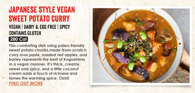 The Soup Spoon Japanese Style Vegan Sweet Potato Curry