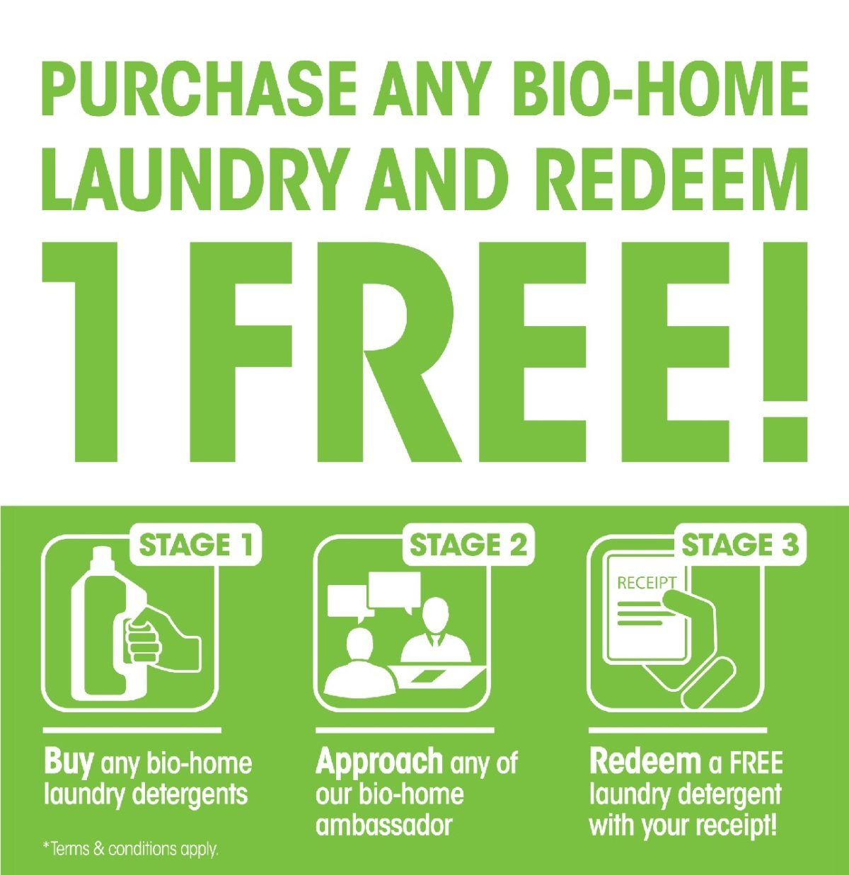 Bio-Home Eco-Friendly Laundry Detergent Promotion