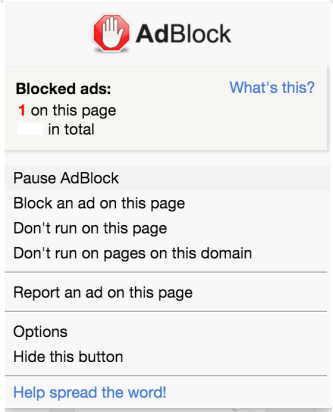 Enable ad blocker