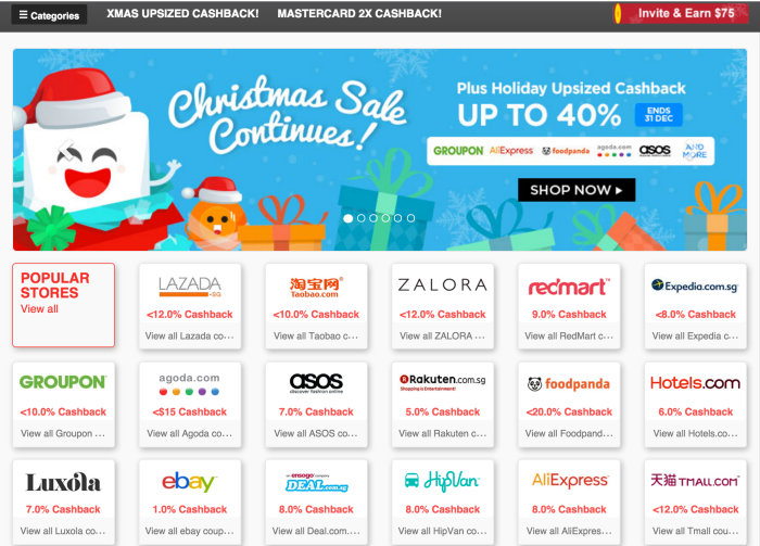 Xmas Upsized Cashback