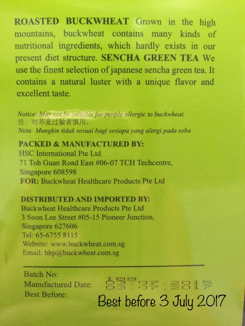 SGVegan_Buckwheat Green Tea Expiry